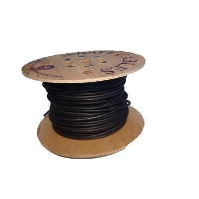 Cable solaire 1x4 carré 100m noir