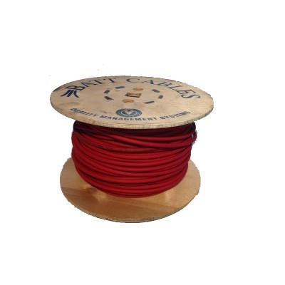 Cable solaire 1x4 carré 100m rouge
